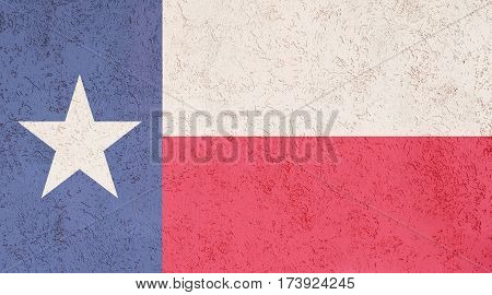 Texas flag plaster wall. Abstract Flag background.