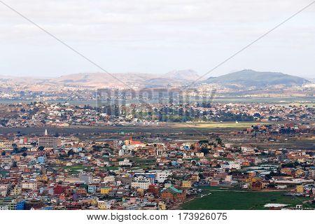 Central Antananarivo Cityscape, Tana, Capital Of Madagascar