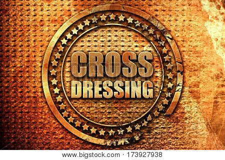 cross dressing, 3D rendering, metal text