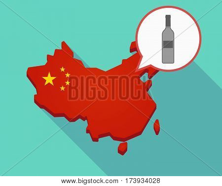 Map Of China With A Bottle Of Wine