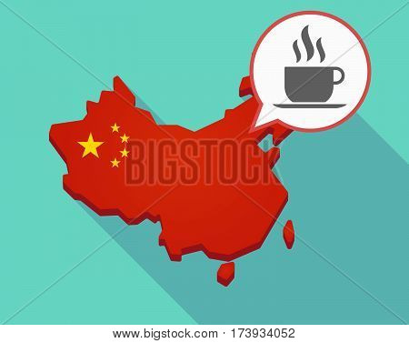Map Of China With A Cup Of Coffee