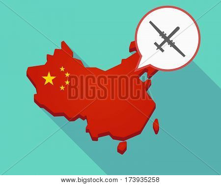 Map Of China With A War Drone