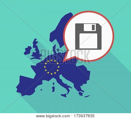 Eu Map With A Floppy Disk