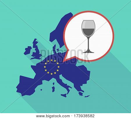 Eu Map With A Cup Of Wine