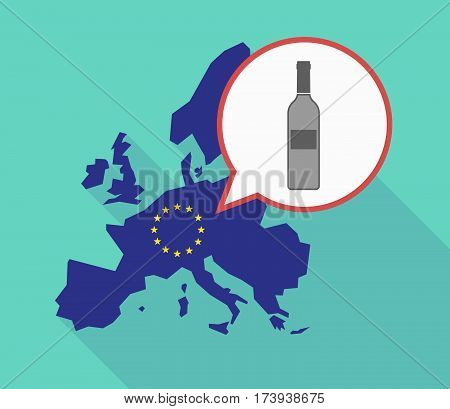 Eu Map With A Bottle Of Wine