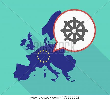 Eu Map With A Dharma Chakra Sign