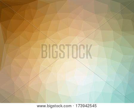 Color polygon abstract triangulated background vector illustration