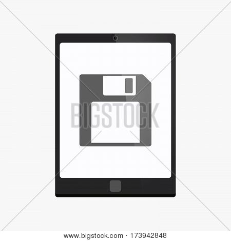 Isolated Tablet Pc With A Floppy Disk