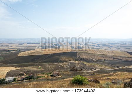 Farmland Landscape In Basilicata, Italy