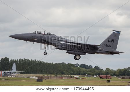 Usaf F15 Lands At Riat