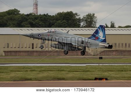 Swiss Air Force F5-e Lands At Riat