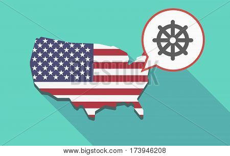 Usa Map With A Dharma Chakra Sign