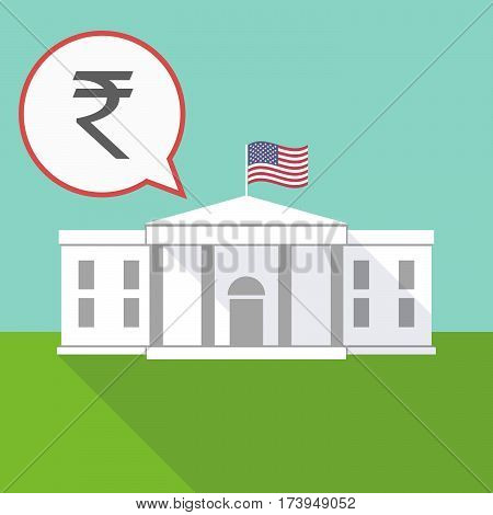 The White House With A Rupee Sign