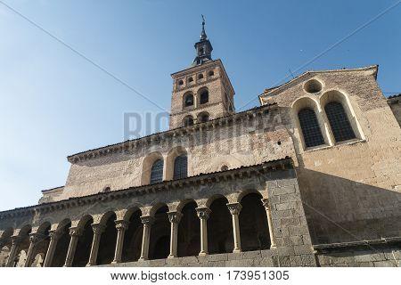 Segovia (Castilla y Leon Spain): exterior of the medieval church of San Martin detail