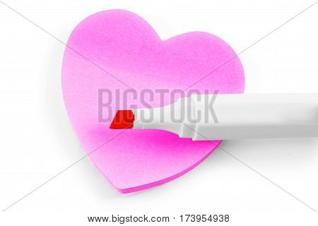 Colorful sticky note heart shape Information, Reminder, Advertisement, Notes