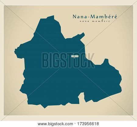 Modern Map - Nana-Mambere CF illustration silhouette
