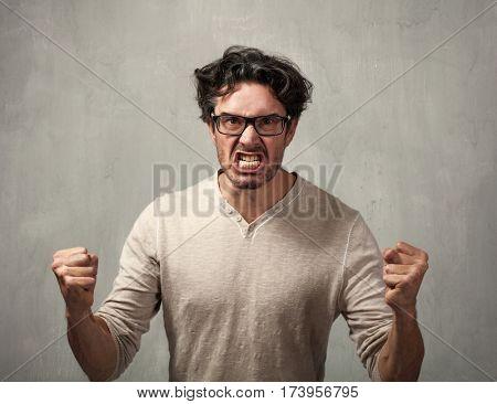 Angry man.
