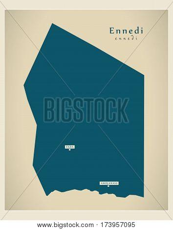 Modern Map - Ennedi TD illustration silhouette