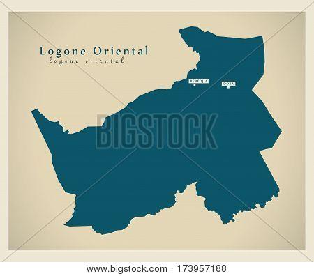 Modern Map - Logone-Oriental TD illustration silhouette