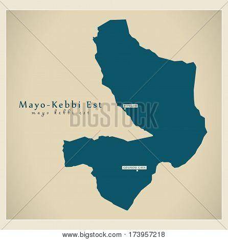 Modern Map - Mayo-Kebbi Est TD illustration silhouette