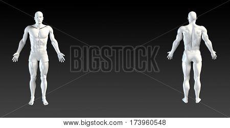 Body System Presentation Abstract Illustration Art in 3d 3D Illustration Render