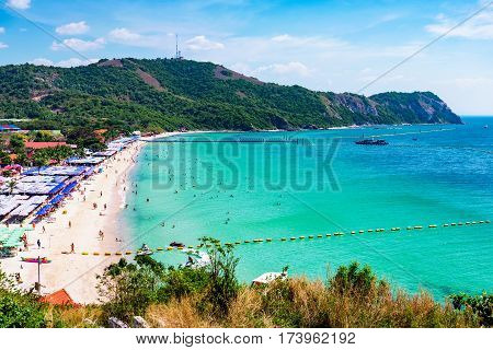 Scenic view of Koh lan island in Thailand