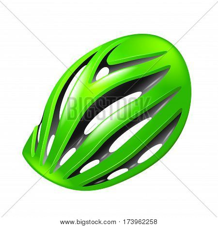 Bicycle helmet isolated on white photo-realistic vector illustration