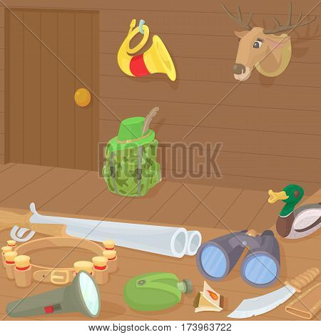 Hunting concept. Cartoon illustration of Hunting vector concept for web