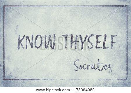 Know Thyself Socrates Cyan