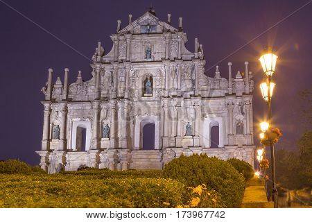 Ruine Von St. Paul's Kirche In Macau China