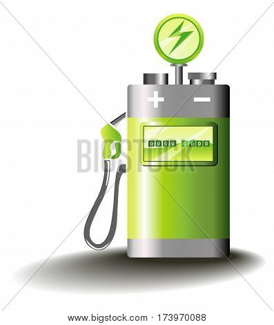 symbolic vector illustration for electric mobility and sustainable transport