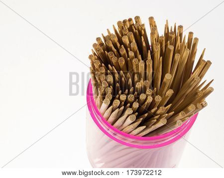 close up of Toothpick on white background