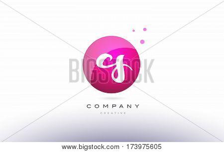 Cs C S  Sphere Pink 3D Hand Written Alphabet Letter Logo