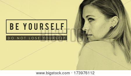 Yourself overlay word young people
