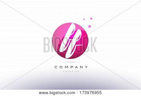 Ff F F  Sphere Pink 3D Hand Written Alphabet Letter Logo