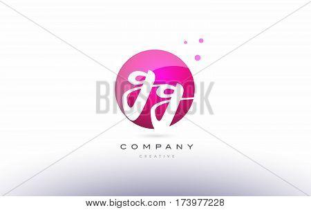 Gg G G  Sphere Pink 3D Hand Written Alphabet Letter Logo