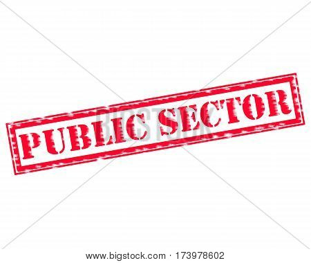 PUBLIC SECTOR RED Stamp Text on white backgroud