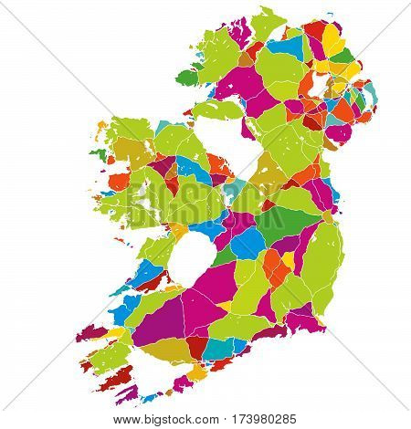 Ireland Colorful Vector Map