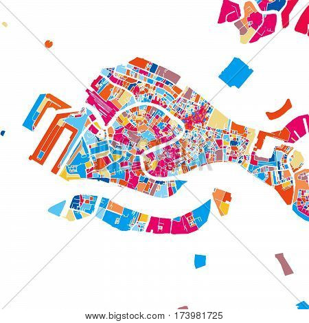 Venice Colorful Vector Map