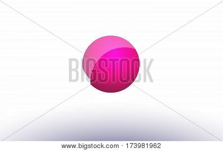We W E  Sphere Pink 3D Hand Written Alphabet Letter Logo