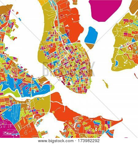 Charleston Colorful Vector Map