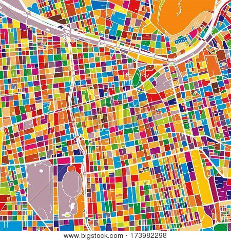 Santiago Colorful Map