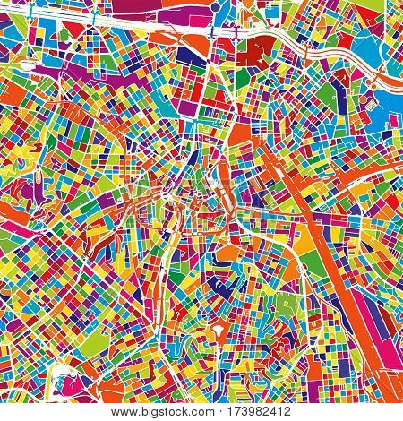 Sao Paulo Colorful Map