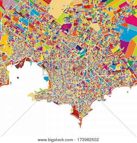 Montevideo Colorful Map