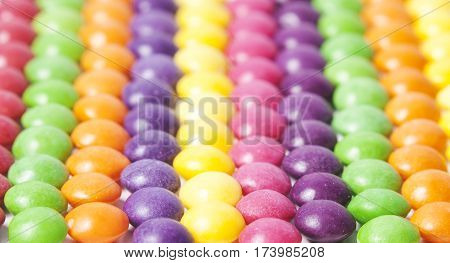 Candy colorful pattern. Striped multicolored sweet background