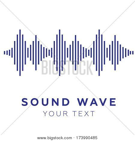 Music beat. Abstract equalizer. Sound Wave vector