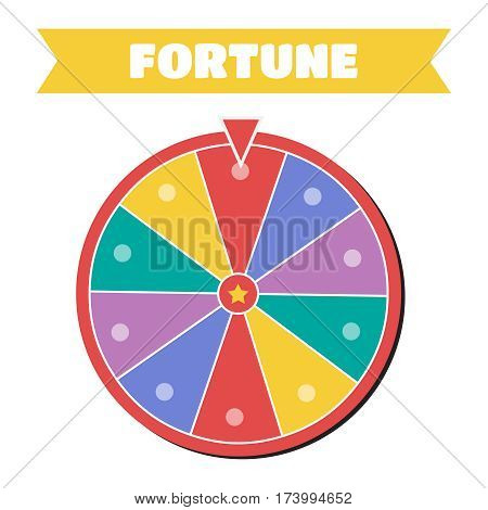 Wheel of fortune vector icon. Wheel of fortune sign
