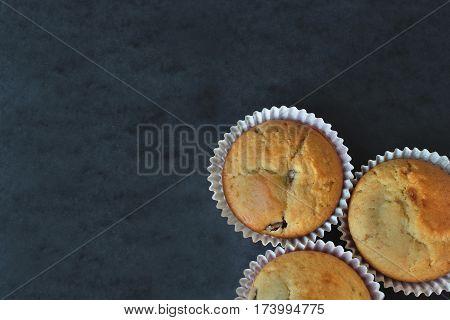 Sweet muffin for coffe. Wallpaper bake. Popular dessert for snack.