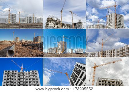 Hoist crane and construction of highrise building