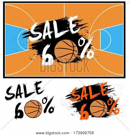 Set Banners Sale 60 Percent With Basketball